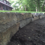 retaining wall construction