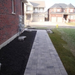 Interlocking brick walkways