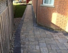 Interlocking brick walkways