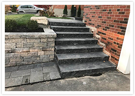 retaining wall stairs woodbridge 1