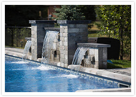 swimming pool waterfalls richmond Hill 1
